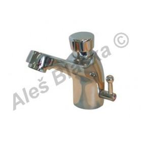 TENDER TR 05 tlačítkový časový stojánkový umyvadlový ventil s regulací teploty