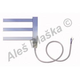 AV.E Pravý Elektrický koupelnový radiátor rovný metalická stříbrná (žebřík)