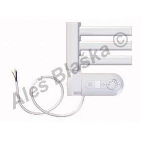 BKM.ERK levý Elektrický koupelnový radiátor prohnutý bílý (žebřík)