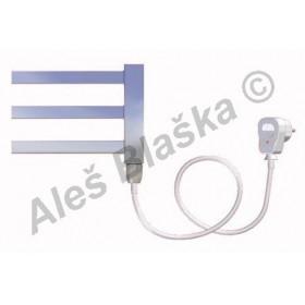 AV.ES pravý Elektrický koupelnový radiátor rovný metalická stříbrná (žebřík)