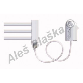 BK.ER pravý/levý Elektrický koupelnový radiátor rovný bílý (žebřík)