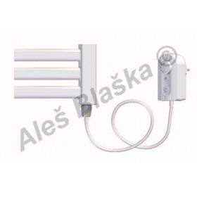 BKM.ER pravý Elektrický koupelnový radiátor prohnutý bílý (žebřík)