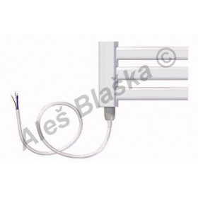 BKM.E levý Elektrický koupelnový radiátor prohnutý bílý (žebřík)