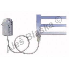 AV.ER levý Elektrický koupelnový radiátor rovný metalická stříbrná (žebřík)