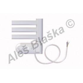 BKM.ERK pravý Elektrický koupelnový radiátor prohnutý bílý (žebřík)