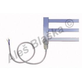 AV.E levý Elektrický koupelnový radiátor rovný metalická stříbrná (žebřík)