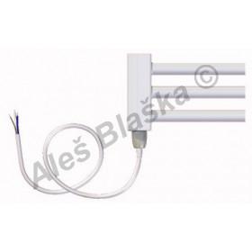 BK.E pravý/levý Elektrický koupelnový radiátor rovný bílý (žebřík)
