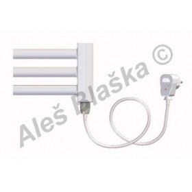 BKL.ES pravý/levý Elektrický koupelnový radiátor rovný bílý (žebřík)
