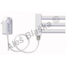 BKL.ER pravý/levý Elektrický koupelnový radiátor rovný bílý (žebřík)