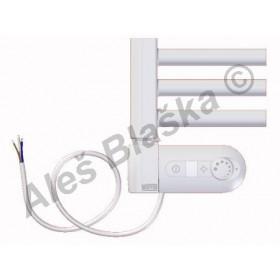 BKL.ERK levý Elektrický koupelnový radiátor rovný bílý (žebřík)