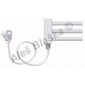 BK.ES pravý/levý Elektrický koupelnový radiátor rovný bílý (žebřík)
