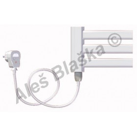 BKM.ES levý Elektrický koupelnový radiátor prohnutý bílý (žebřík)
