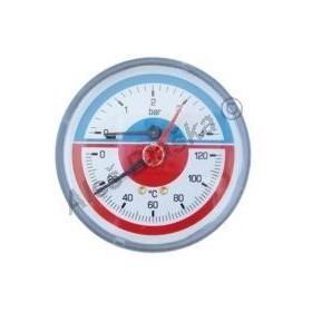 Termomanometr se zadním napojením - teploměr s manometrem