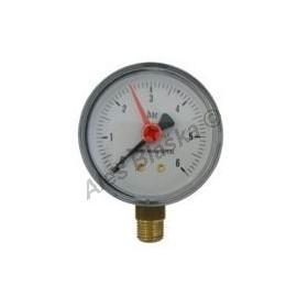 Manometr spodní vývod rozsah 0-6 bar - tlakoměr