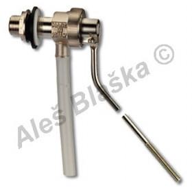Plovákový ventil boční k WC celokovový (napouštění k záchodu)