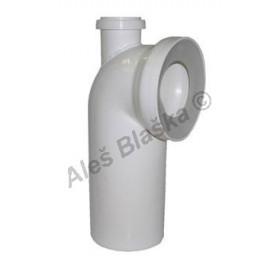 WC dopojení odpadu koleno 90° s připojovací trubkou - připojení odpad