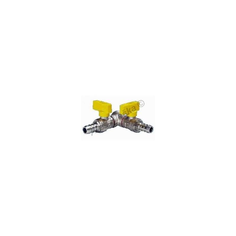 Kulový kohout (ventil) dvojitý vzorkovací na plyn motýl (plynový)