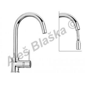 COX 78.591 vodovodní baterie páková stojánková dřezová s výsuvnou sprchou (vytahovací sprškou)