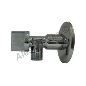 """Rohový kulový kohout (ventil) 1/2""""x1/2"""" bez matice k umyvadlu WC (roháček)"""