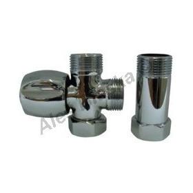 Ventil s mezikusem k připojení pračky (myčky) za baterii (roháček, kohout)
