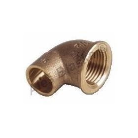 CU 4090 G Bronzové pájecí koleno (oblouk) s vnitřním závitem A xIG (pro k pájení, letovací - měď)