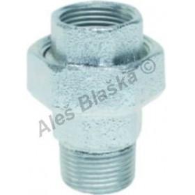 Šroubení pozinkované přímé na ploché těsnění (vnitřní-vnější závit) GEBO Platinum - POZINK (holendr)