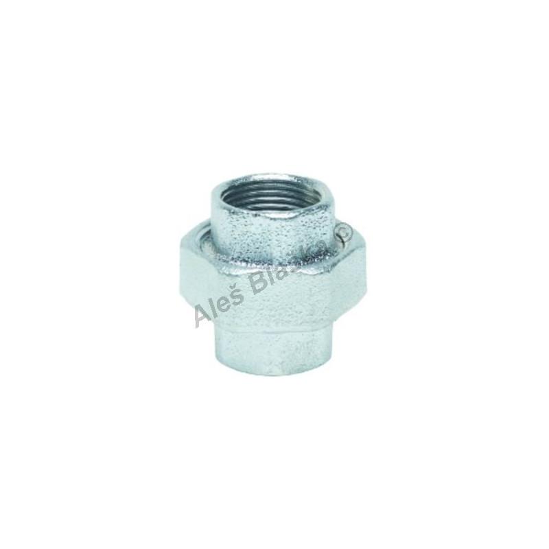 Šroubení pozinkované přímé na ploché těsnění (vnitřní závity) GEBO Platinum - POZINK (holendr)