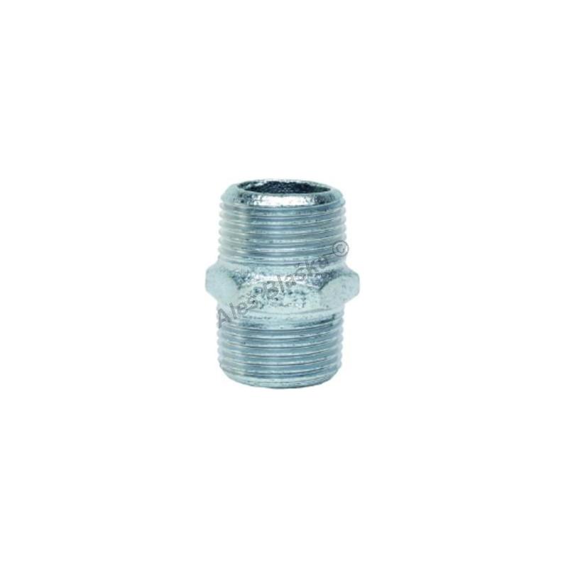 Vsuvka pozinkovaná (vnější závity) GEBO Platinum - POZINK (dvojnipl, nipl)