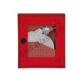 Domovní požární hydrant nástěnný se zploštitelnou hadicí DN52 délky 20m prosklený (hydrantová skříň) hydrantový systém
