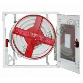 Domovní požární hydrant pro zazdění s hadicí DN19 délky 30m prosklený (hydrantová skříň) hydrantový systém