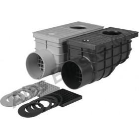 Kanalizační vpusť GEIGER lapač střešních splavenin a vod DN110 boční (gajgr)