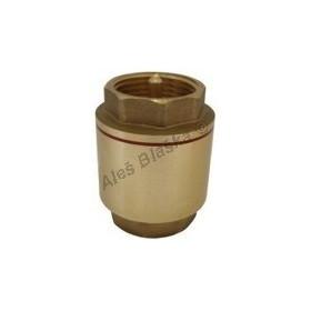 Celomosazná univerzální zpětná klapka s pružinkou MOSAZ (zpětný ventil voda)