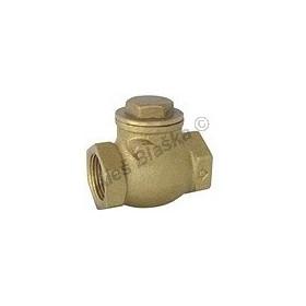 Mosazná zpětná klapka pro vodorovnou polohu - klapací MOSAZ (zpětný ventil voda)