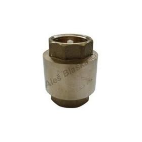 Mosazná univerzální zpětná klapka s pružinkou MOSAZ (zpětný ventil voda)