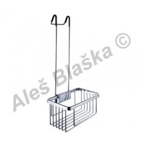 Koupelnová drátěná police s hákem KIBO KI 14015 H - NIMCO (drátěný program)(polička do koupelny)