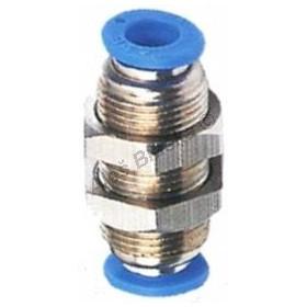 Pneumatická nástrčná spojka EPM panelová kovová na vzduch (rychlospojka)