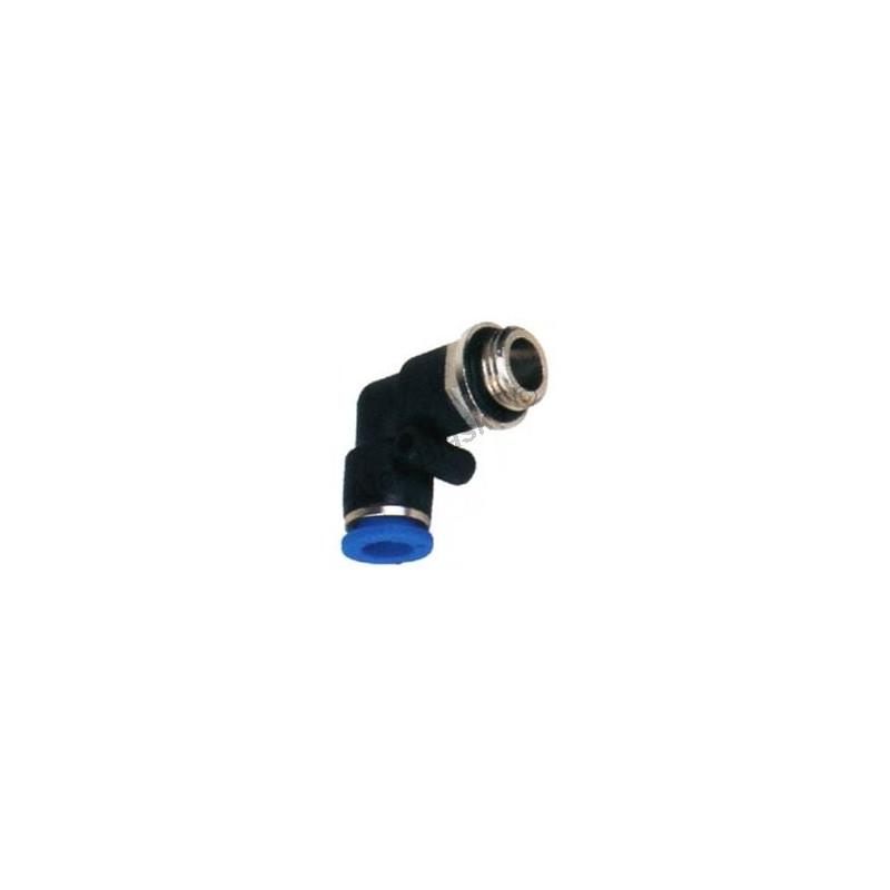 Pneumatická nástrčná spojka EPL úhlová (kolínko) - vnější závit na vzduch (rychlospojka)
