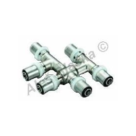Lisovací T by-pass rozteč 35mm, PRESS pro PEX-AL, plastohliníkové trubky