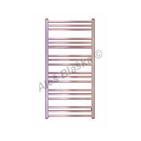 AV Koupelnový radiátor (žebřík) rovný barva metalická stříbrná