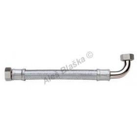 """Antivibrační nerezová opletená flexi připojovací hadička GIGANT 1/2""""Mx1/2""""M s kolínkem propojovací hadice na vodu"""