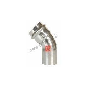uhlík.ocel oblouk (koleno) 45° MxF , lisovací, PRESS, C-STEEL