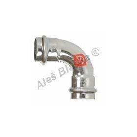 uhlík.ocel oblouk (koleno) 90° FxF , lisovací, PRESS, C-STEEL