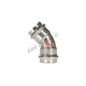 uhlík.ocel oblouk (koleno) 45° FxF , lisovací, PRESS, C-STEEL