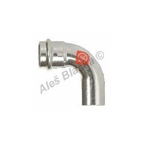 uhlík.ocel oblouk (koleno) 90° MxF , lisovací, PRESS, C-STEEL