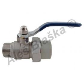 PPR kulový kohout (ventil) s vnějším závitem s pákou plastový tvarovka navařovací