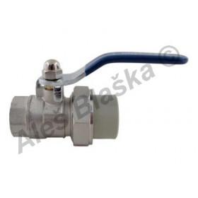 PPR kulový kohout (ventil) s vnitřním závitem s pákou plastový tvarovka navařovací