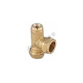 T kus s odvzdušňovacím ventilem , použití pro měděné trubky