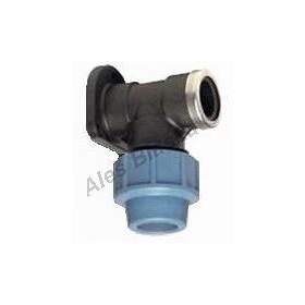 PE (PP-S) spojka nástěnka na polyetylénové trubky (polyš) (svěrná plastová)