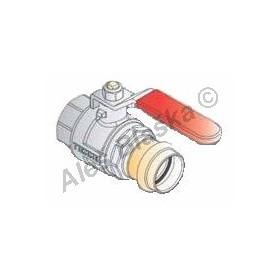 Kulový kohout (ventil) lisovací s pákou s přechodem na měděnou trubku, PRESS