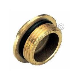 Záslepka (zátka) mosazná pro rozdělovače, s O-kroužkem
